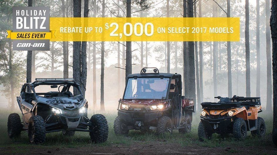 CAN-AM HOLIDAY BLITZ SALES EVENT- Commander Rebate