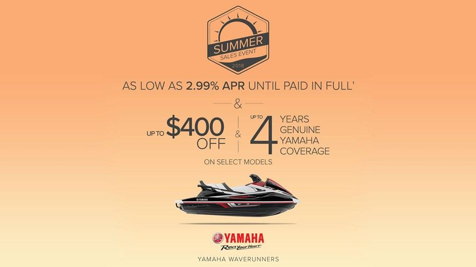 Yamaha Waverunners - Summer Sales Event 2018 - 2.99% APR